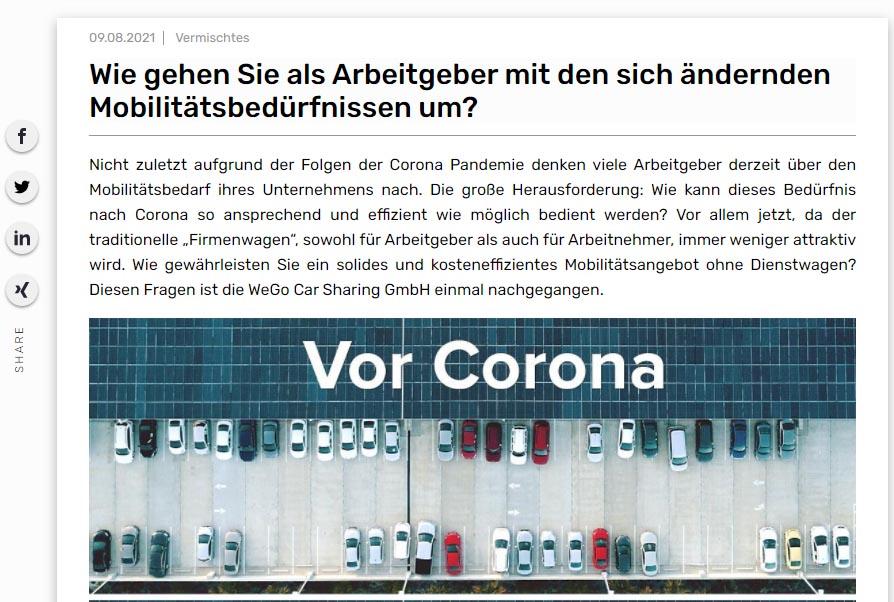 WeGo auf Flotte.de