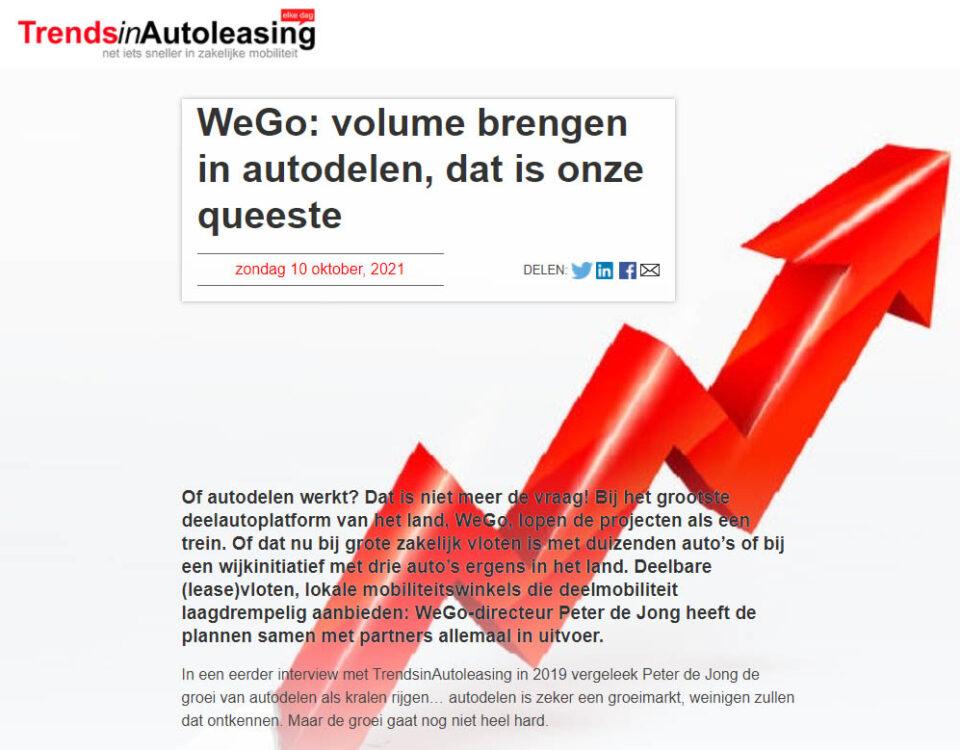 WeGo: volume brengen in autodelen, dat is onze queeste